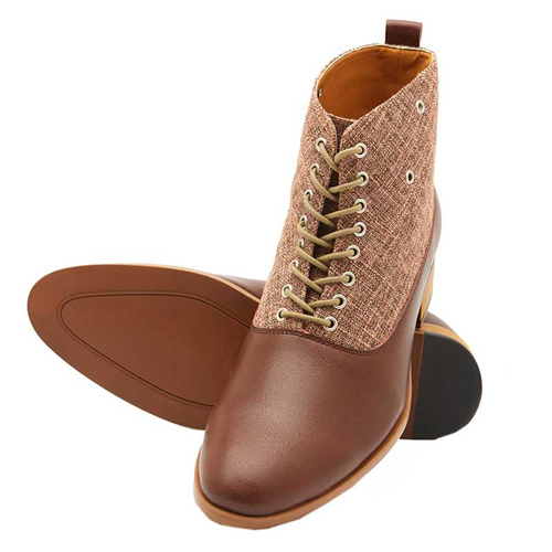 Elevato Height Increasing Designer Ankle Shoes