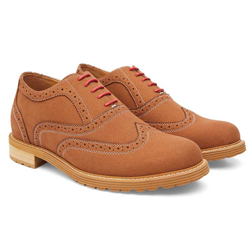 Elevato Height Increasing Brown Casual Shoes